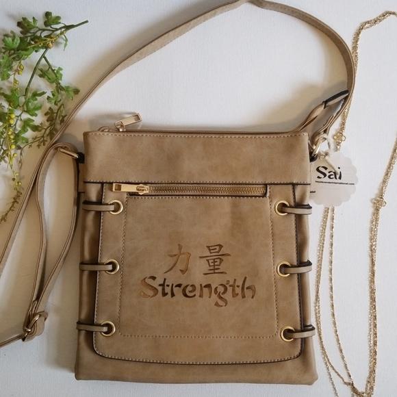 Vegan Sai Strength Tan Handbag 👜. M 5b4f546d2e147849593461fc cf3633402dcd0